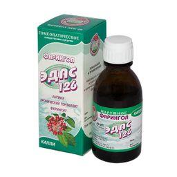 Эдас-126 Фарингол, капли для приема внутрь гомеопатические, 25 мл, 1 шт.