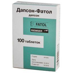 Дапсон-Фатол, 50 мг, таблетки, 100шт.