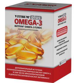 Витрум Омега-3 Плюс, 1382 мг, капсулы, 60шт.