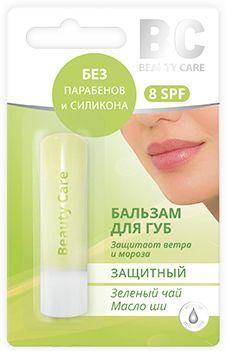 BC Бальзам для губ Защитный масло ши-зеленый чай, бальзам для губ, 4.5 г, 1 шт.