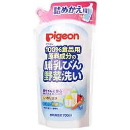 Pigeon Средство для мытья бутылочек и овощей, сменный блок, 700 мл, 1 шт.