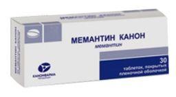 Мемантин Канон, 20 мг, таблетки, покрытые пленочной оболочкой, 30 шт.