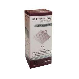 Цефтриаксон-ЛЕКСВМ, 1 г, порошок для приготовления раствора для внутривенного и внутримышечного введения, 1шт.
