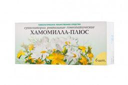 Хамомилла-плюс, суппозитории ректальные, 6 шт.