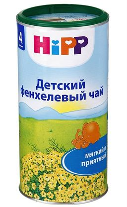 Чай Hipp детский фенхелевый, чай быстрорастворимый, 200 г, 1шт.
