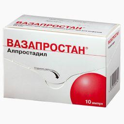Вазапростан, 60 мкг, лиофилизат для приготовления раствора для инфузий, 10шт.