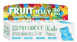 PresiDent Kids зубная паста мармелад, паста зубная, без фтора, 50 мл, 1шт.