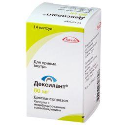 Дексилант, 60 мг, капсулы с модифицированным высвобождением, 14шт.