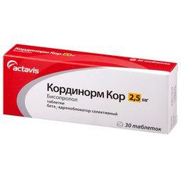 Кординорм Кор, 2.5 мг, таблетки, 30шт.