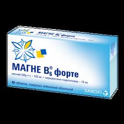 Магне B6 форте, таблетки, покрытые пленочной оболочкой, 40 шт.