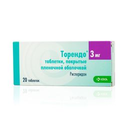Торендо, 3 мг, таблетки, покрытые пленочной оболочкой, 20 шт.