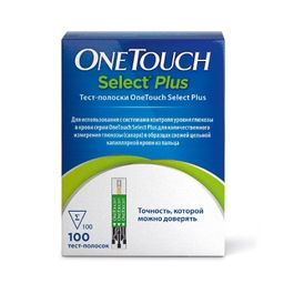 Тест-полоски One Touch Select Plus, 100 шт.