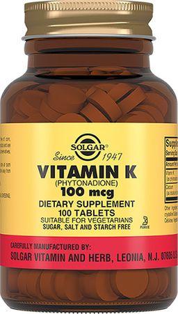 Solgar Витамин К 100 мкг