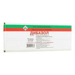 Дибазол, 10 мг/мл, раствор для внутривенного и внутримышечного введения, 5 мл, 10 шт.