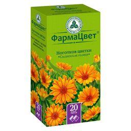 Ноготков цветки, сырье растительное-порошок, 1.5 г, 20 шт.