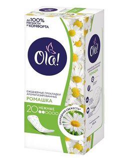 Ola! Daily Deo прокладки ежедневные Ромашка, прокладки гигиенические, ароматизированные, 20шт.