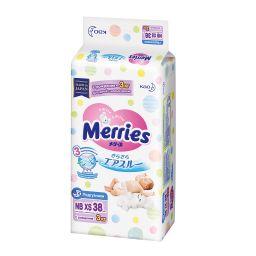 Подгузники детские Merries до 3 кг, для детей с малым весом, 38 шт.