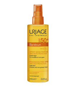 Uriage Bariesun Спрей без ароматизаторов SPF50+, спрей, 200 мл, 1 шт.