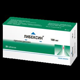 Либексин, 100 мг, таблетки, 20 шт.