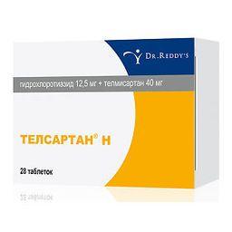 Телсартан Н, 12.5 мг+40 мг, таблетки, 28 шт.