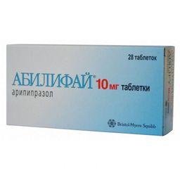 Абилифай, 10 мг, таблетки, 28 шт.