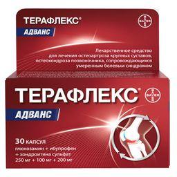 Терафлекс Адванс, 250 мг+100 мг+200 мг, капсулы, 30 шт.