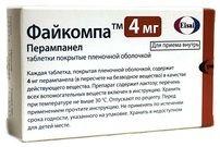 Файкомпа, 4 мг, таблетки, покрытые пленочной оболочкой, 28шт.
