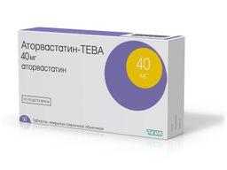 Аторвастатин-Тева, 40 мг, таблетки, покрытые пленочной оболочкой, 30шт.