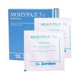 Монурал, гранулы для приготовления раствора для приема внутрь, 3 г, 2шт.