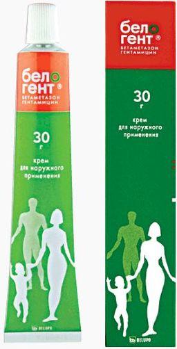 Белогент, 0.5 мг/г+1 мг/г, крем для наружного применения, 30 г, 1 шт.