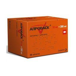 Апроваск, 10 мг+300 мг, таблетки, покрытые пленочной оболочкой, 28шт.