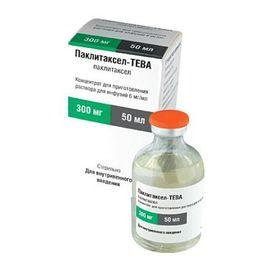 Паклитаксел-Тева, 6 мг/мл, концентрат для приготовления раствора для инфузий, 50 мл, 1 шт.