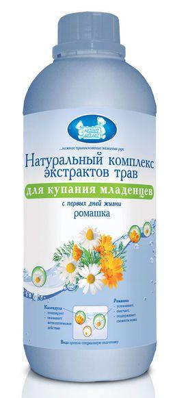 Наша Мама Натуральный комплекс экстрактов трав Ромашка, жидкость для ванн, 1000 мл, 1шт.