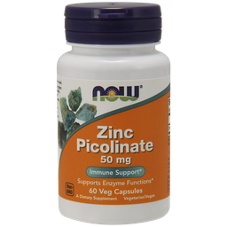 NOW Zinc Picolinate, 50 мг, капсулы, 60шт.