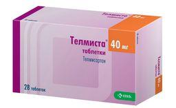 Телмиста, 40 мг, таблетки, покрытые пленочной оболочкой, 28шт.
