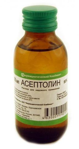Асептолин, 90%, раствор для наружного применения, 100 мл, 1 шт.