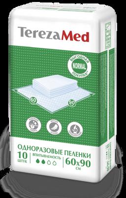 TerezaMed Normal пеленки одноразовые, 90 смx60 см, Normal (2 капли), 10шт.