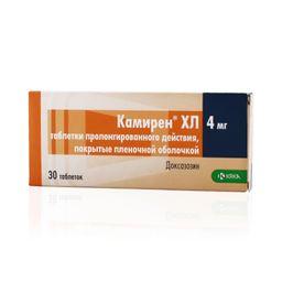 Камирен ХЛ, 4 мг, таблетки с пролонгированным высвобождением, покрытые пленочной оболочкой, 30шт.