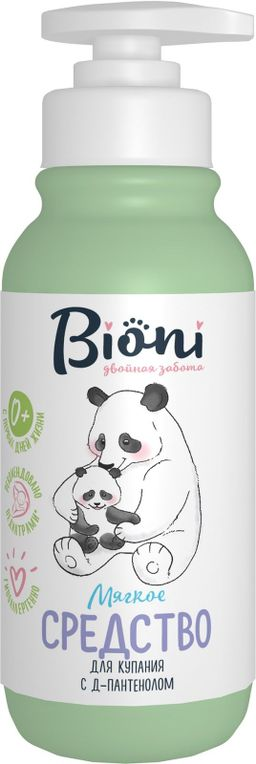 Bioni Средство для купания младенцев, гель для детей, 250 мл, 1шт.