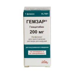 Гемзар, 200 мг, лиофилизат для приготовления раствора для инфузий, 10 мл, 1 шт.