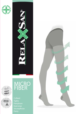 Relaxsan Collant Micro Колготки профилактика с микрофиброй, р. 5, арт. 780M (12-17 mm Hg), 70 DEN (черные), 1 шт.