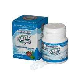 Эдас-925 Тонзиллин, гранулы гомеопатические, 20 г, 1 шт.