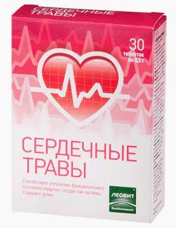 Сердечные травы, 0.3 г, таблетки, 30 шт.