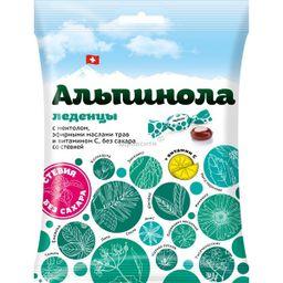 Альпинола леденцы со стевией -Ментол-Эфирные масла-Витамин С, леденцы, 75 г, 1шт.