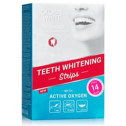Global White полоски отбеливающие для зубов Максимальный эффект за 14 дней, 28 шт.