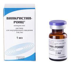 Винкристин-РОНЦ, 1 мг/мл, раствор для внутривенного введения, 1 мл, 1 шт.