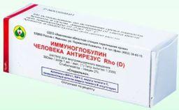 Иммуноглобулин человека антирезус RhO D, 300 мкг/доза, раствор для внутримышечного введения, титр антител не менее 1:2000, 1 мл, 1 шт.