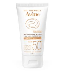 Avene солнцезащитный крем с минеральным экраном SPF50+, крем, 50 мл, 1 шт.