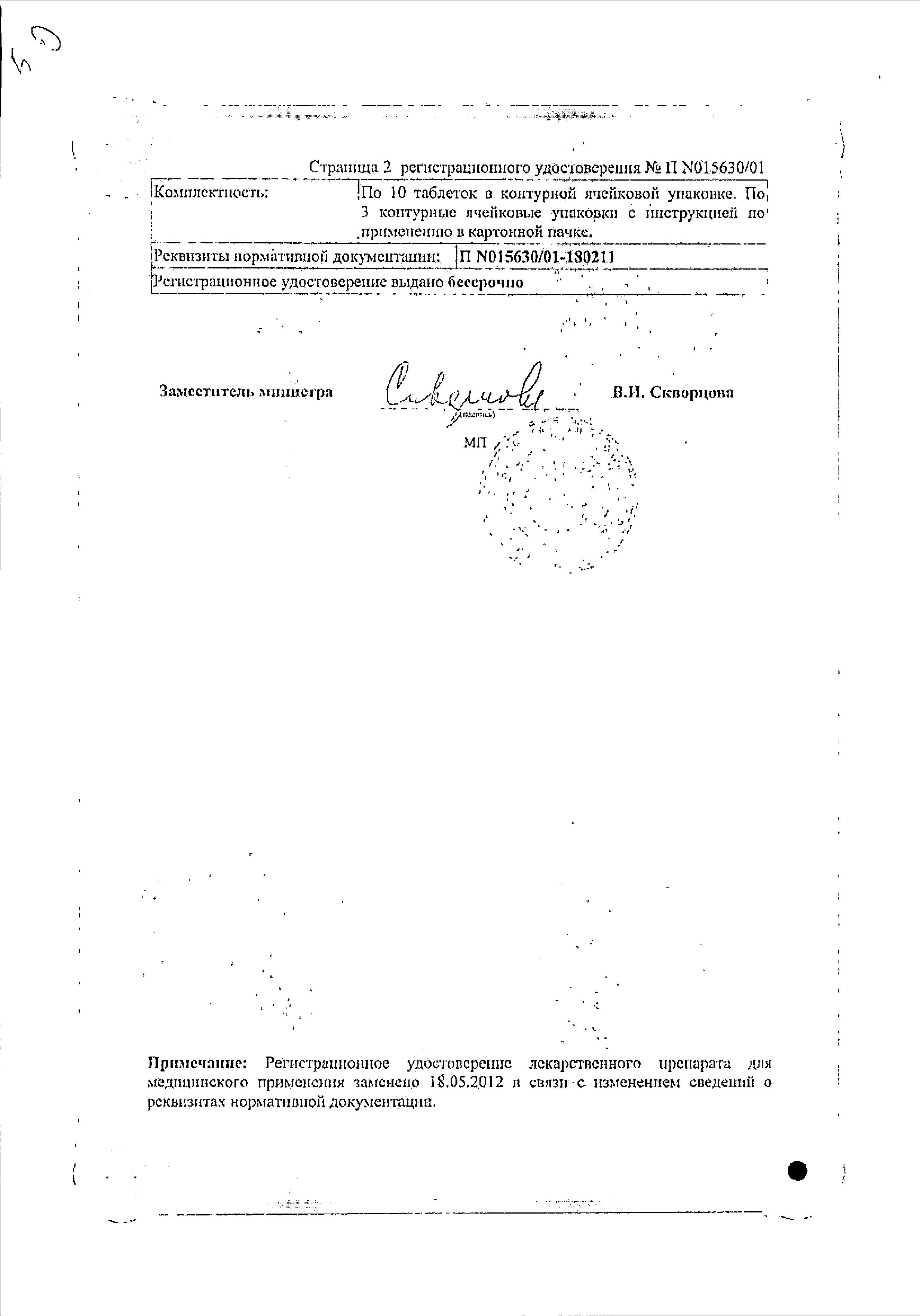 Фурагин сертификат