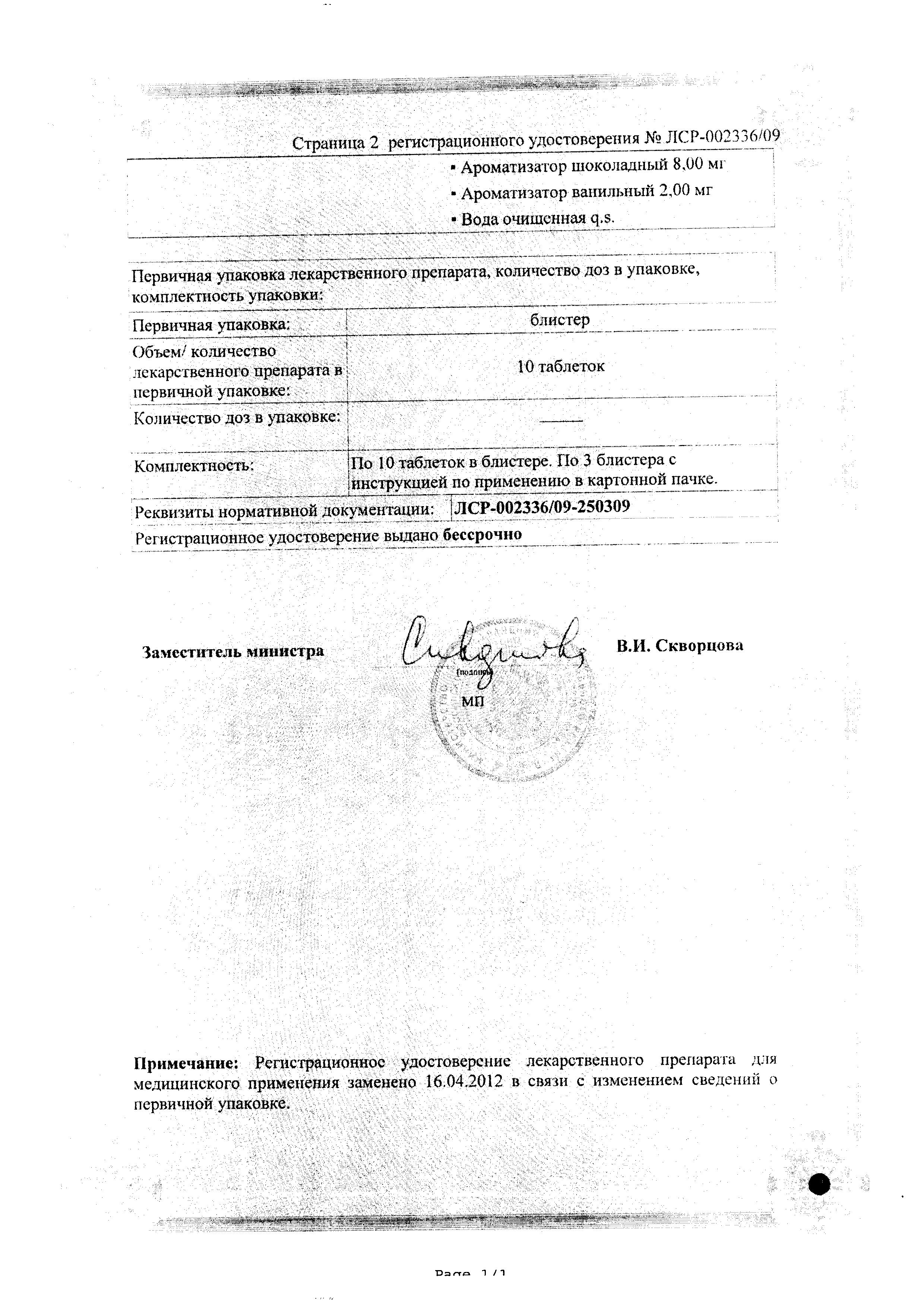 Биофер сертификат
